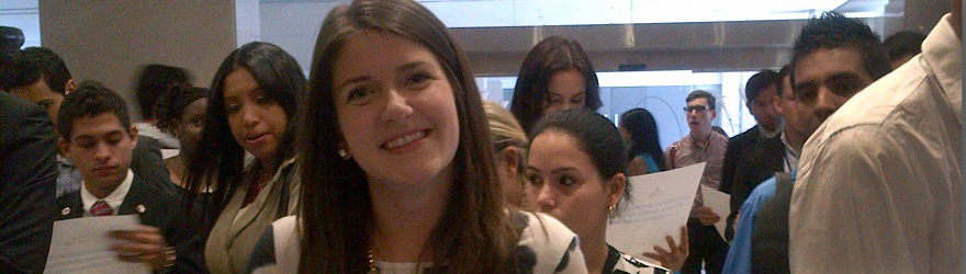 Young Canadian Martina Buchal at the Young Americas Forum TIC Americas International Expo