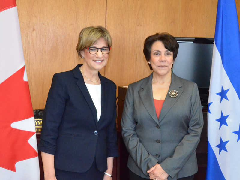 Minister Yelich Meets Honduran Foreign Affairs Minister