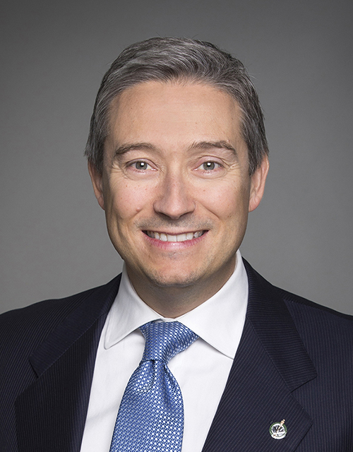 The Honourable François-Philippe Champagne, Minister of Foreign Affairs, Canada