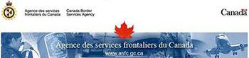 Bannière de l'Agence des services frontaliers du Canada