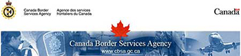 Canada Border Services Agency Banner