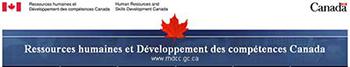Bannière de Ressources humaines et Développement des compétences Canada
