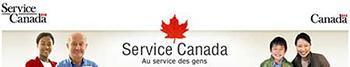 Bannière de Service Canada