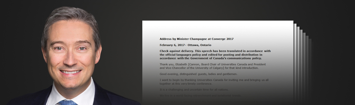 Read Minister Champagne's speeches as Minister of International Trade and explore his most recent statements in the House