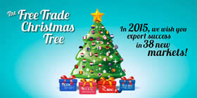 The Free Trade Christmas Tree – In 2015, we wish you export success in 38 new markets!