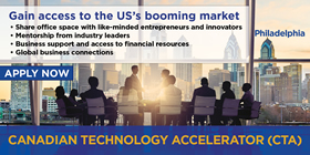 Gain access to the US's booming market – Introductions to like-minded entrepreneurs and innovators; Mentorship from industry leaders; Business support and access to financial resources; Global business connections. Apply now – Canadian Technology Accelerator (CTA) Philadelphia