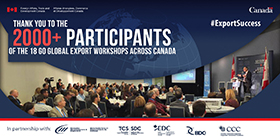 Thank you to the 2000+ participants of the 18 go global export workshops across Canada