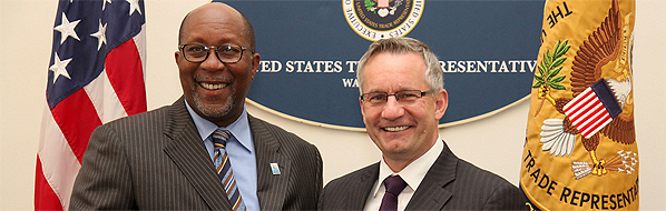 Minister Fast with US Trade Representative Ron Kirk.