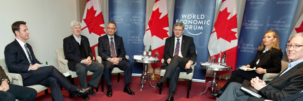 Minister Fast participates in a round-table discussion with senior Canadian business leaders