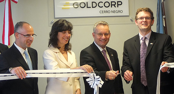 Minister Fast participated in the opening ceremony of the Goldcorp's new Argentina office