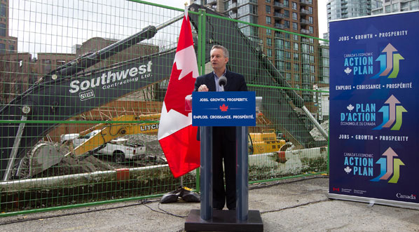 Minister Fast at TELUS Corporation construction site
