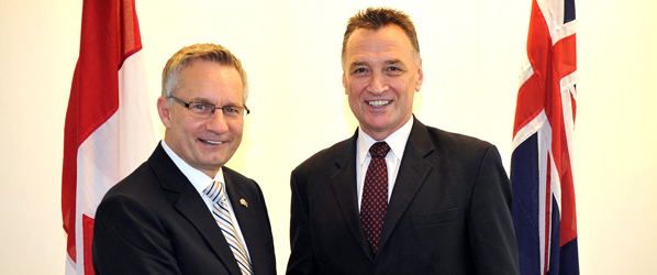 Minister Fast with Craig Emerson, Australia's Minister for Trade and Competitiveness