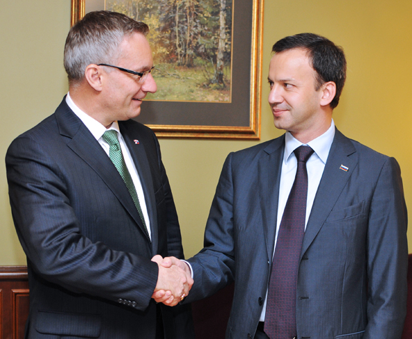 Minister Fast with Arcady Dvorkovich