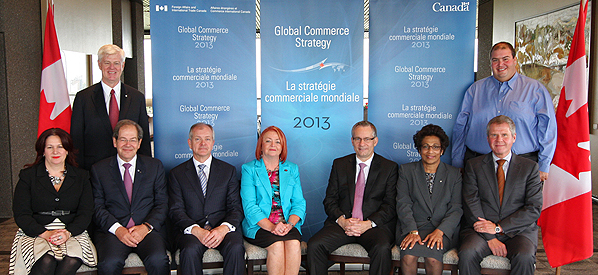 Minister Fast with his Global Commerce Strategy (GCS) Advisory Panel.