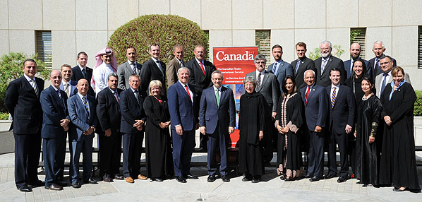 Minister Fast is pictured (front row, centre) with the trade mission participants.
