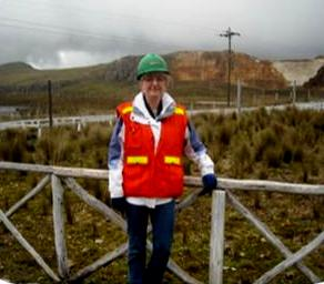 CSR Counsellor Marketa Evans at the Yanacocha mine site visit, Peru 2011