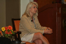Marketa Evens at the Peru CSR Forum, Lima, 2011