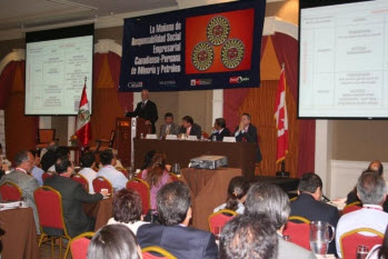 Speaking at the Peru CSR Forum, Lima, 2011
