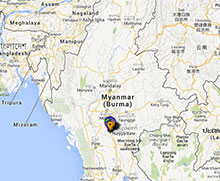 Carte des projets en Birmanie