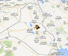 Carte des projets en Iraq