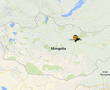 Map of projects in Mongolia