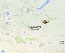 Carte des projets en Mongolie