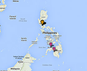 Map of projects in Philippines