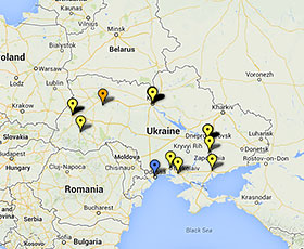 Map of projects in Ukraine