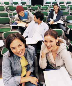 Students in a classroom.
