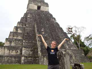 Université Laval student Jennifer Hamel in Guatemala.