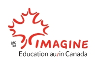 The Imagine Education au/in Canada logo