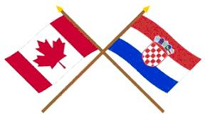 Canadian and Croatian Flag