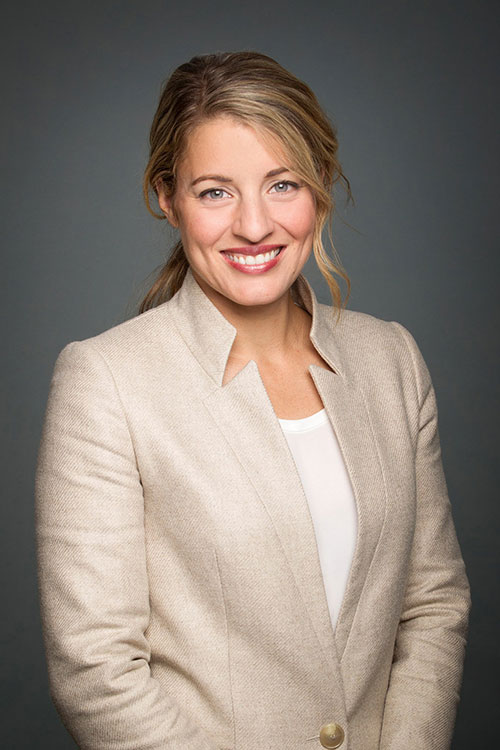 The Honourable Mélanie Joly – Minister of Tourism, Official Languages and La Francophonie