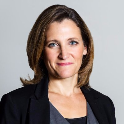 L'honorable Chrystia Freeland