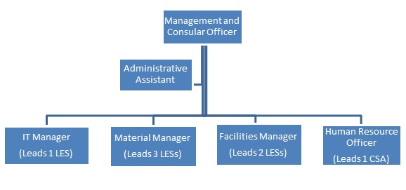 Appendix A:  Organization Chart for Common Services Programs