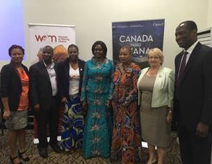 The High Commission of Canada to Ghana poses while attending workshop hosted by the Embassy on women in mining.