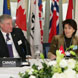 In January 2008, David Emerson and Doris Leuthard sign a free-trade agreement.