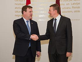 2014-04-25 - Baird Meets Foreign Minister of Latvia