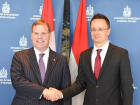 Baird Discusses International Security with Hungarian Counterpart
