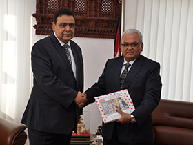 Parliamentary Secretary Obhrai Meets Foreign Affairs Minister of Nepal