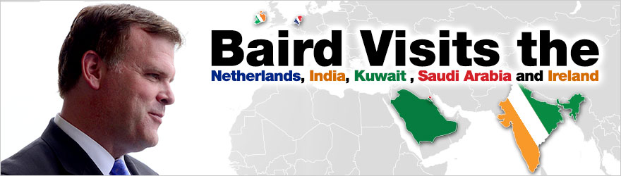 Baird Travels to Netherlands, India, Kuwait, Saudi Arabia and Ireland to Talk Global Security, Trade and Bilateral Cooperation