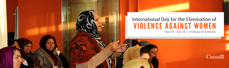 International Day for the Elimination of Violence Against Women, Nov 25 to Dec 10.