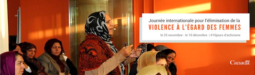 Journée internationale pour l'élimination de la violence à l'égard des femmes, le 25 novembre - le 10 décembre