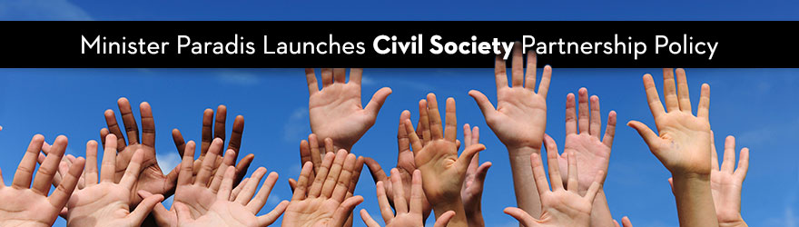 Emphasizes the importance of civil society organizations in international development and humanitarian assistance