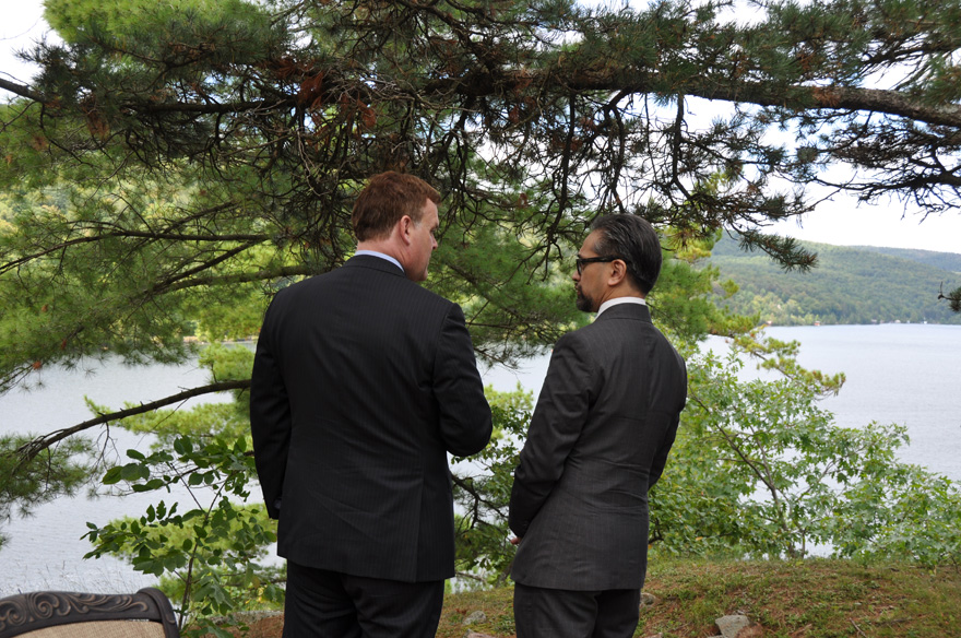 Foreign Affairs Minister John Baird meets with Dr. R. M. Marty M. Natalegawa, Indonesia's Minister of Foreign Aff