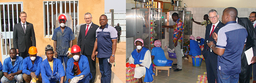 Minister Fast Visits Companies Financed Through Développement international Desjardins in Burkina Faso