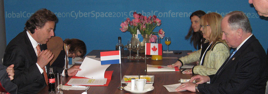 Minister Nicholson Meets Dutch Counterpart
