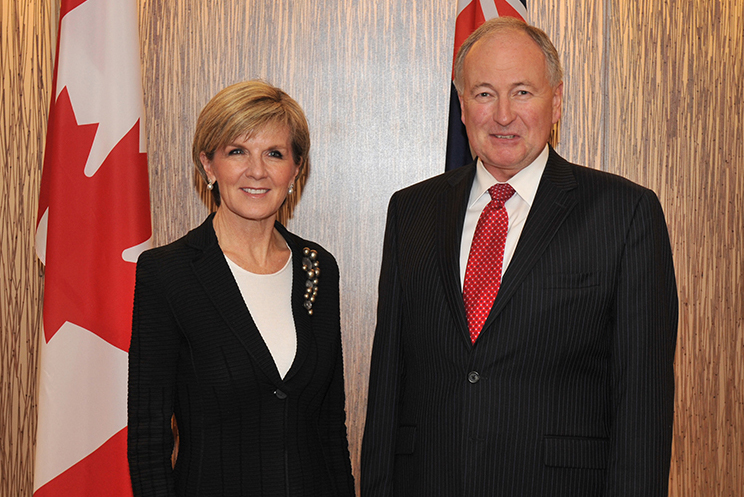 Minister Nicholson Meets with Australian Foreign Minister