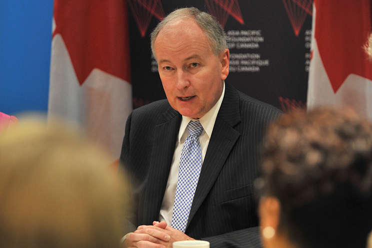 Minister Nicholson Delivers Address at Asia Pacific Foundation of Canada Roundtable