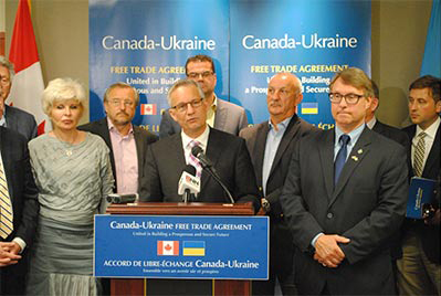 Minister Fast Highlights Benefits of Canada-Ukraine Free Trade Agreement
